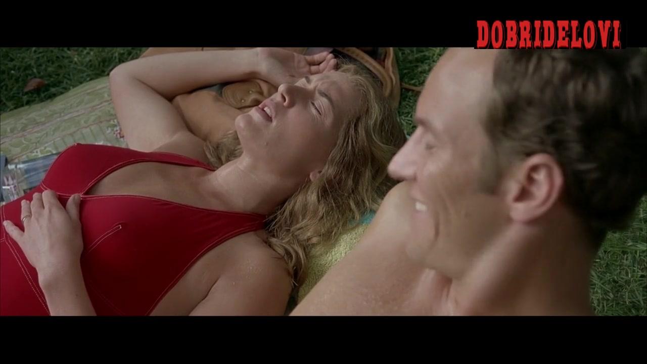 Kate Winslet sunbathing in one piece swimsuit scene from Little Children