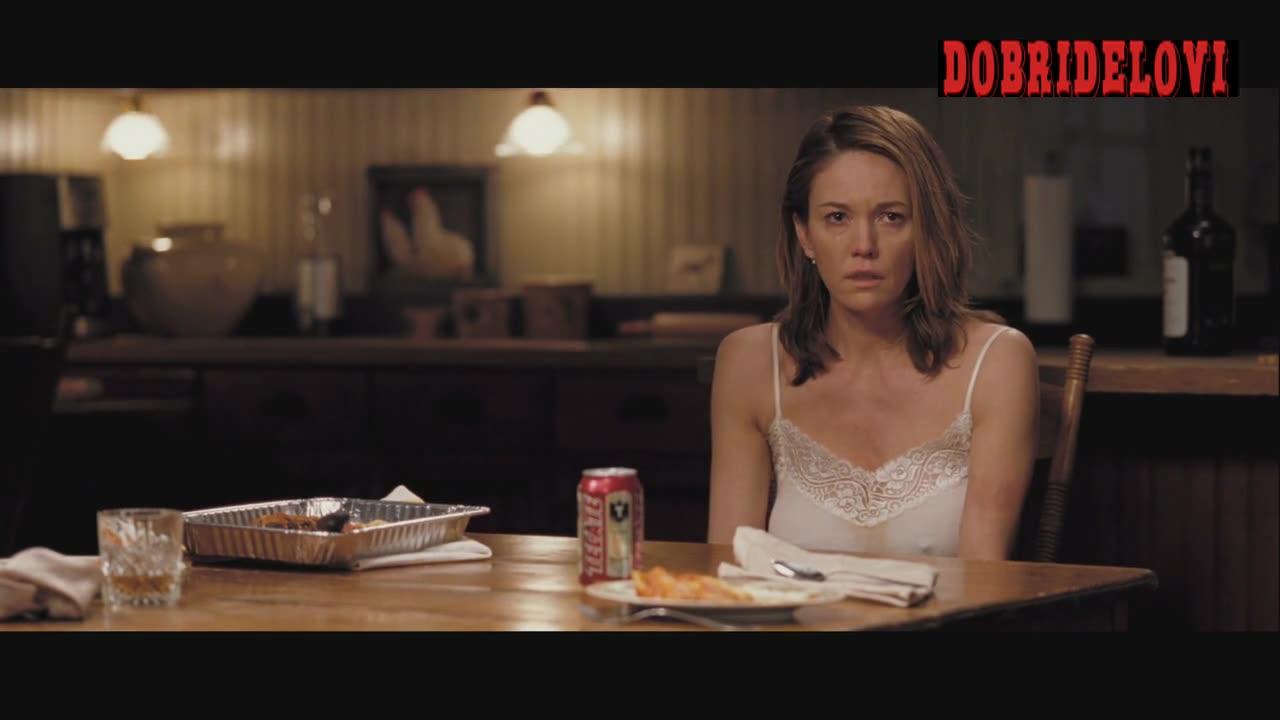 Diane Lane pokies at the kitchen table scene from Killshot