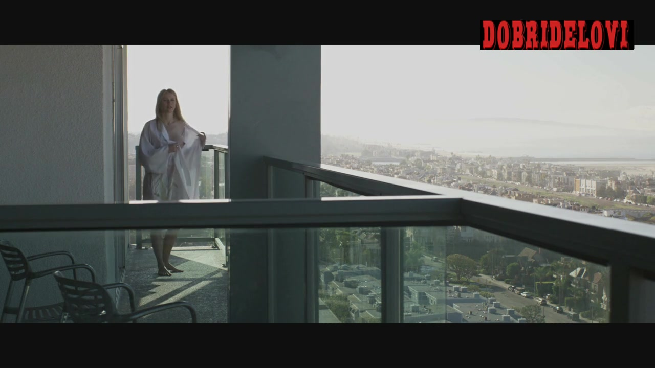 Naomi Watts open robe in patio scene from Mother and Child