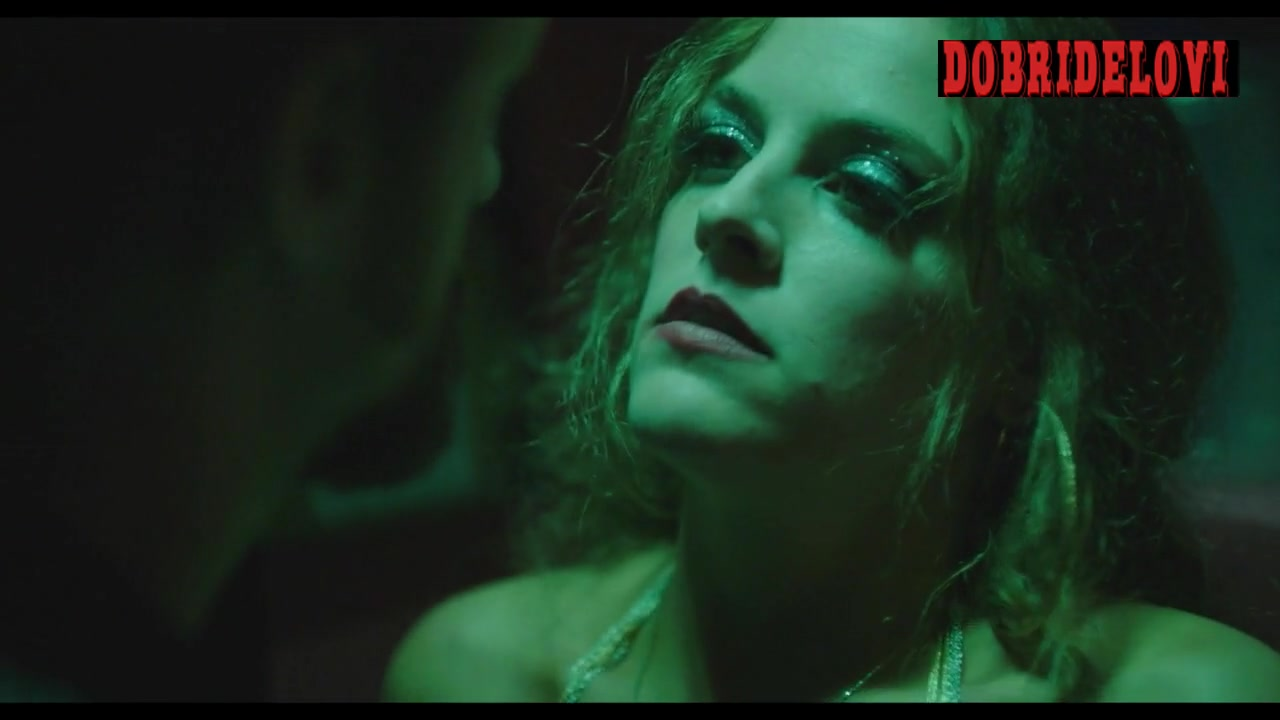 Riley Keough unbuttoning man's pants scene from Dixieland