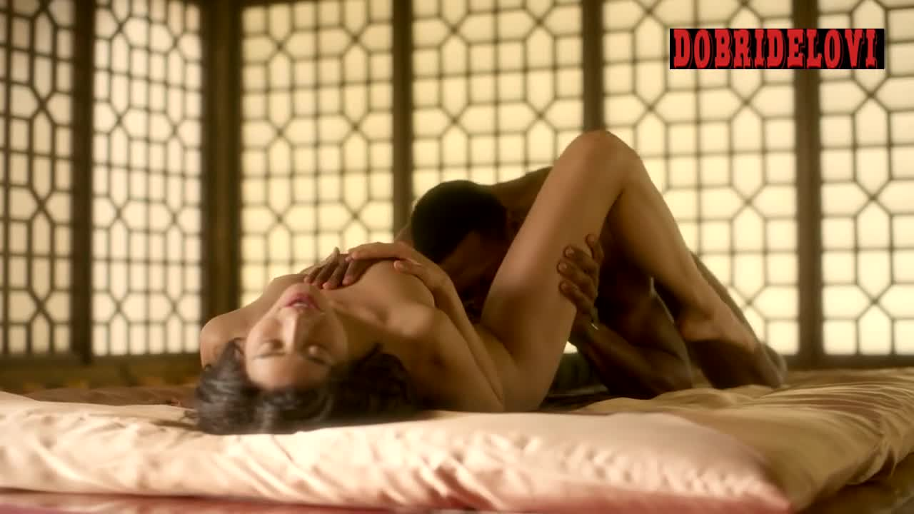 Jamie Chung sex and tentacules scene from Lovecraft Country