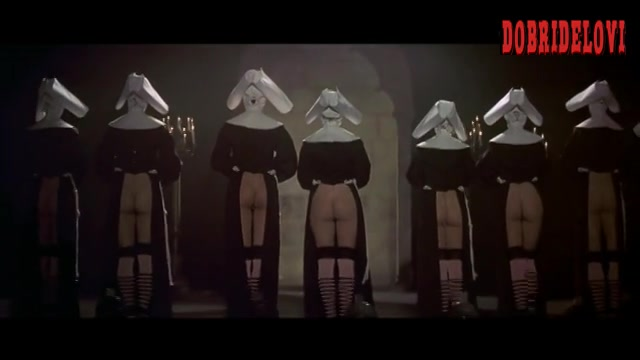 Elisabeth Shue bottomless nuns on stage scene from Cousin Bette