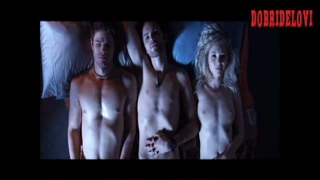 Juno Temple laying nude in bed deleted scene from Kaboom