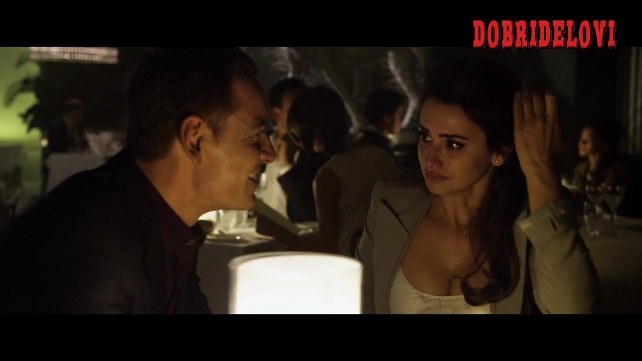 Penélope Cruz being proposed at the restaurant scene from The Counselor