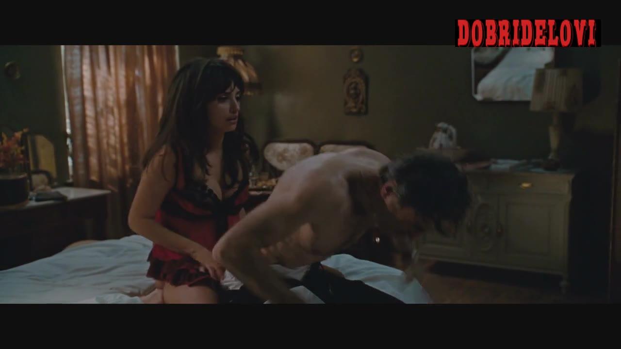 Penélope Cruz sexy in red corset scene from Nine
