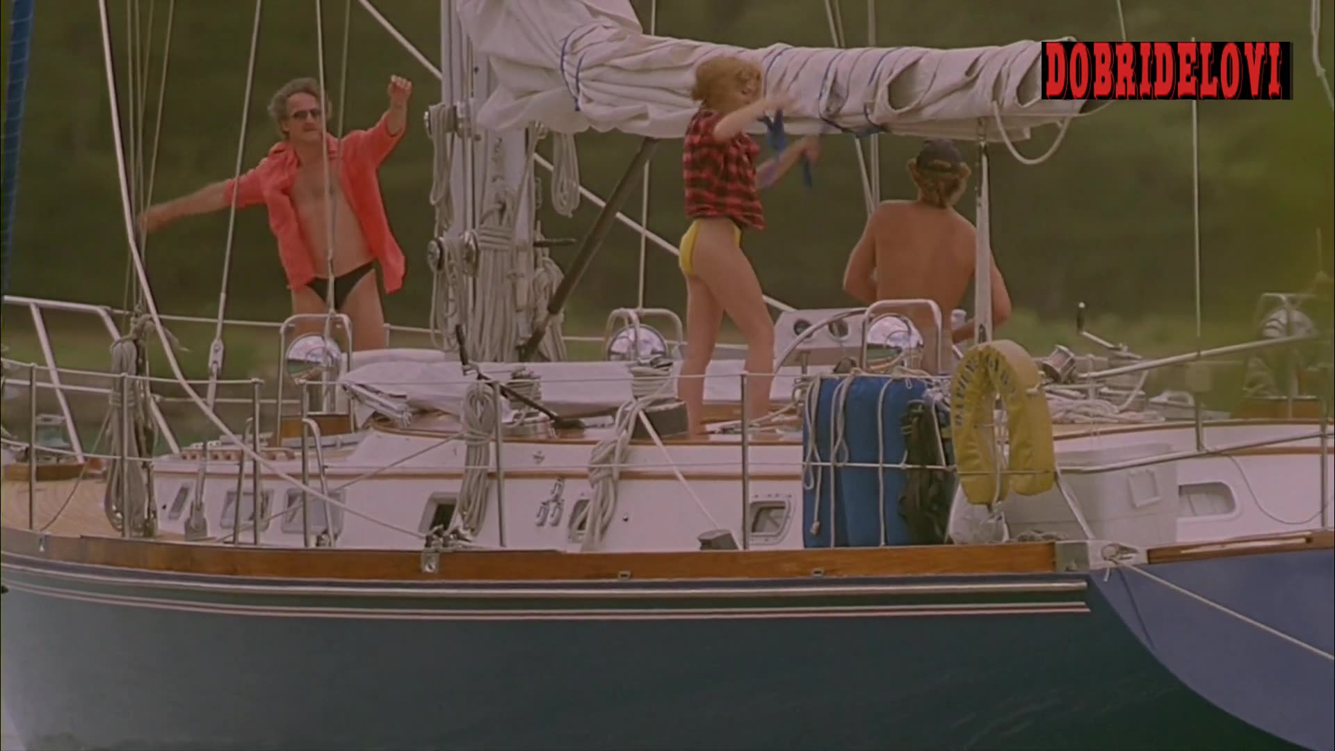 Kim Cattrall sexy on boat scene from Midnight Crossing