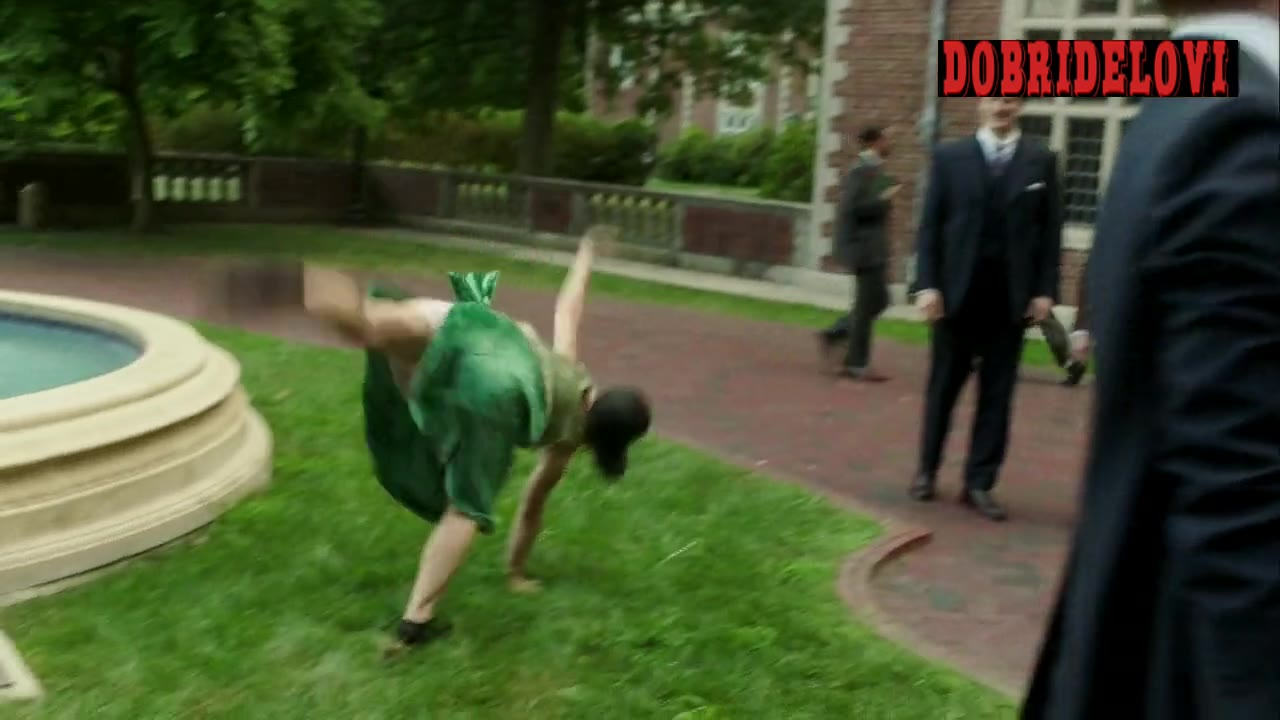 Christina Ricci doing a cartwheel scene from Z: The Beginning of Everything