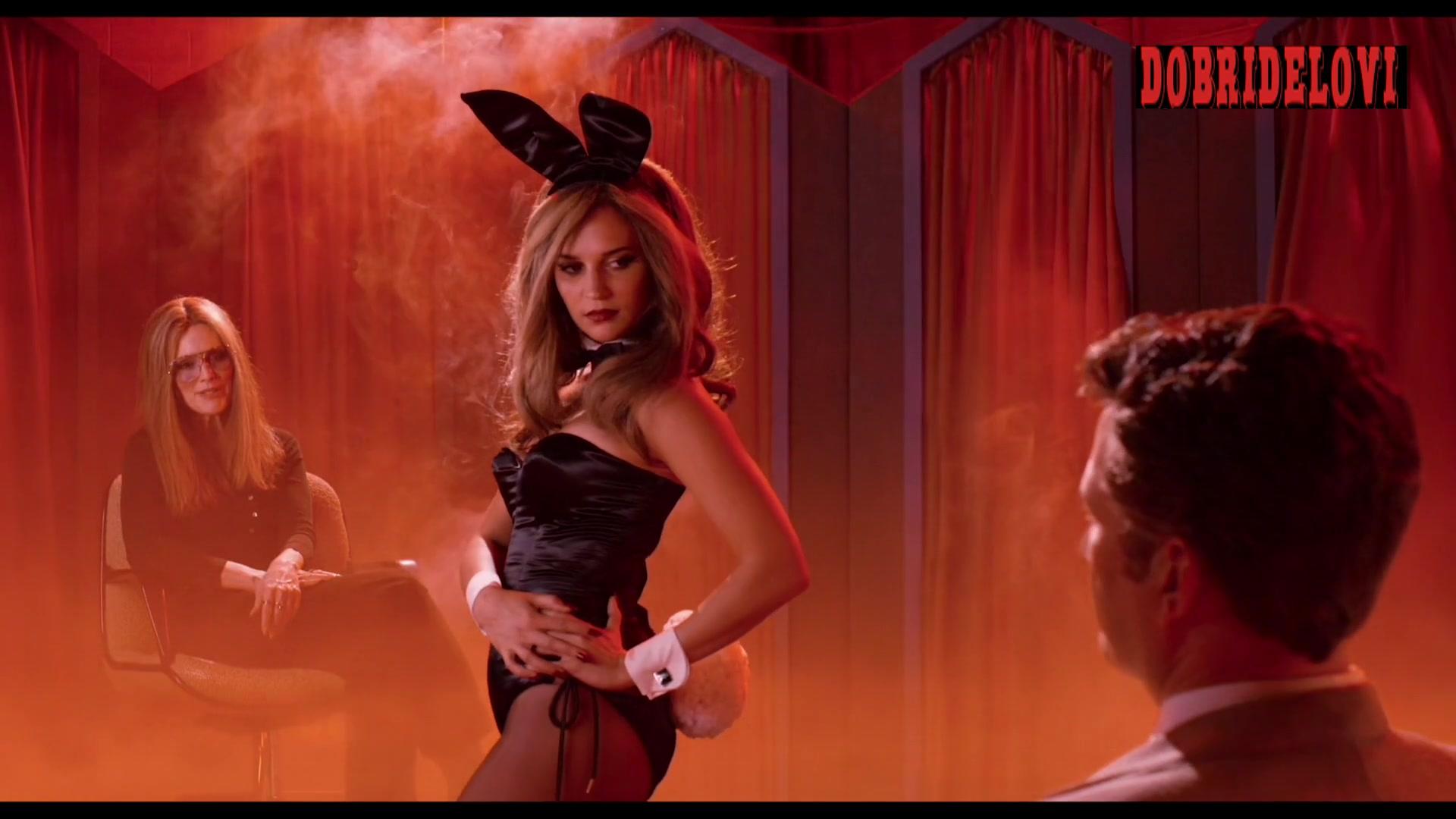 Alicia Vikander playboy bunny in dream scene from The Glorias