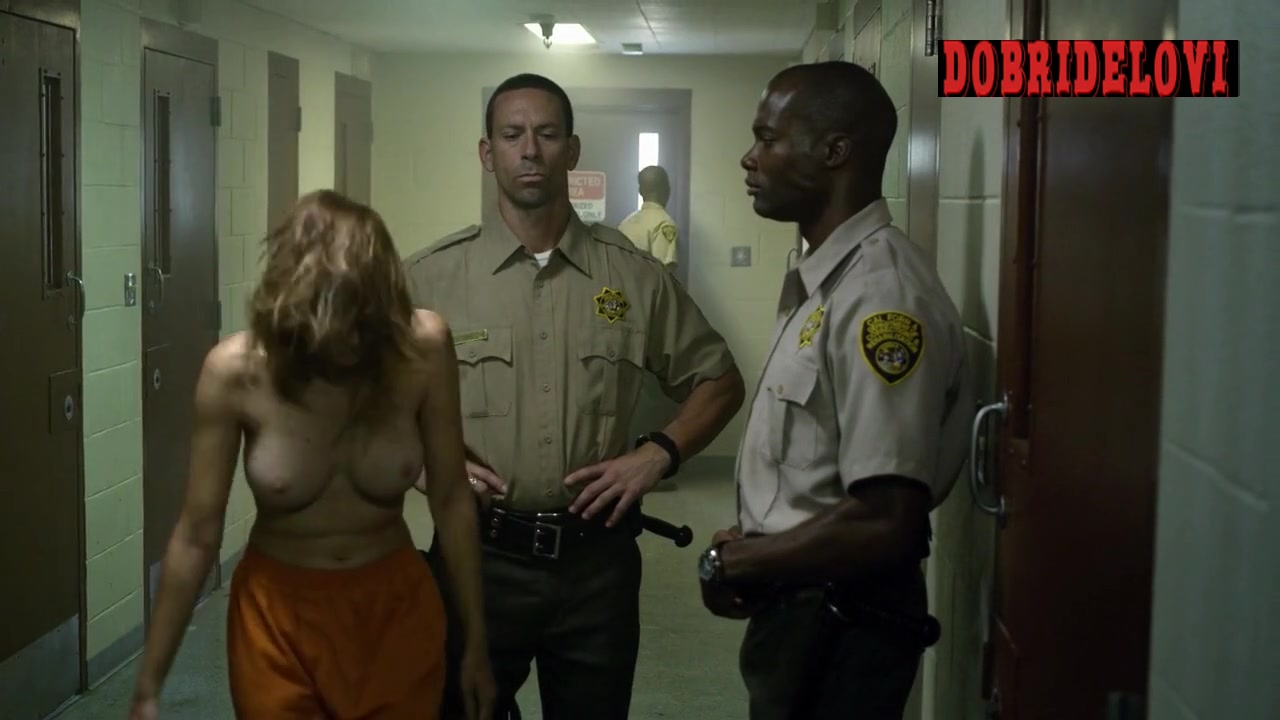 Sara Malakul Lane forced to strip by prison guards scene from Jailbait