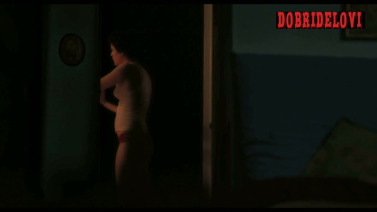 Riley Keough red panties scene from Jack and Diane