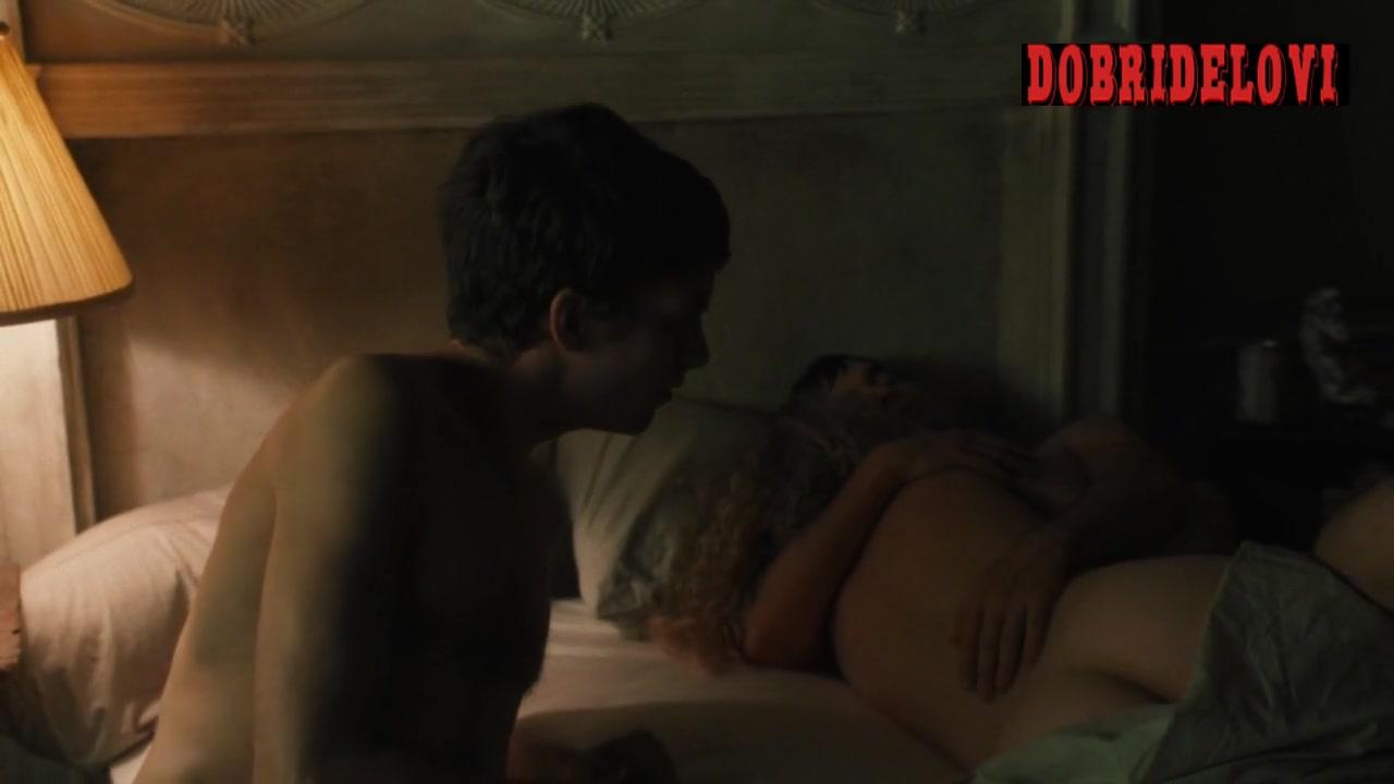 Juno Temple post devil's threesome scene from Vinyl