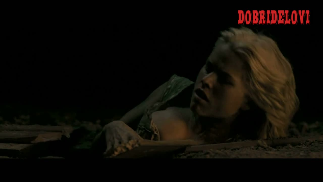 Alice Eve rising from grave scene from The Raven
