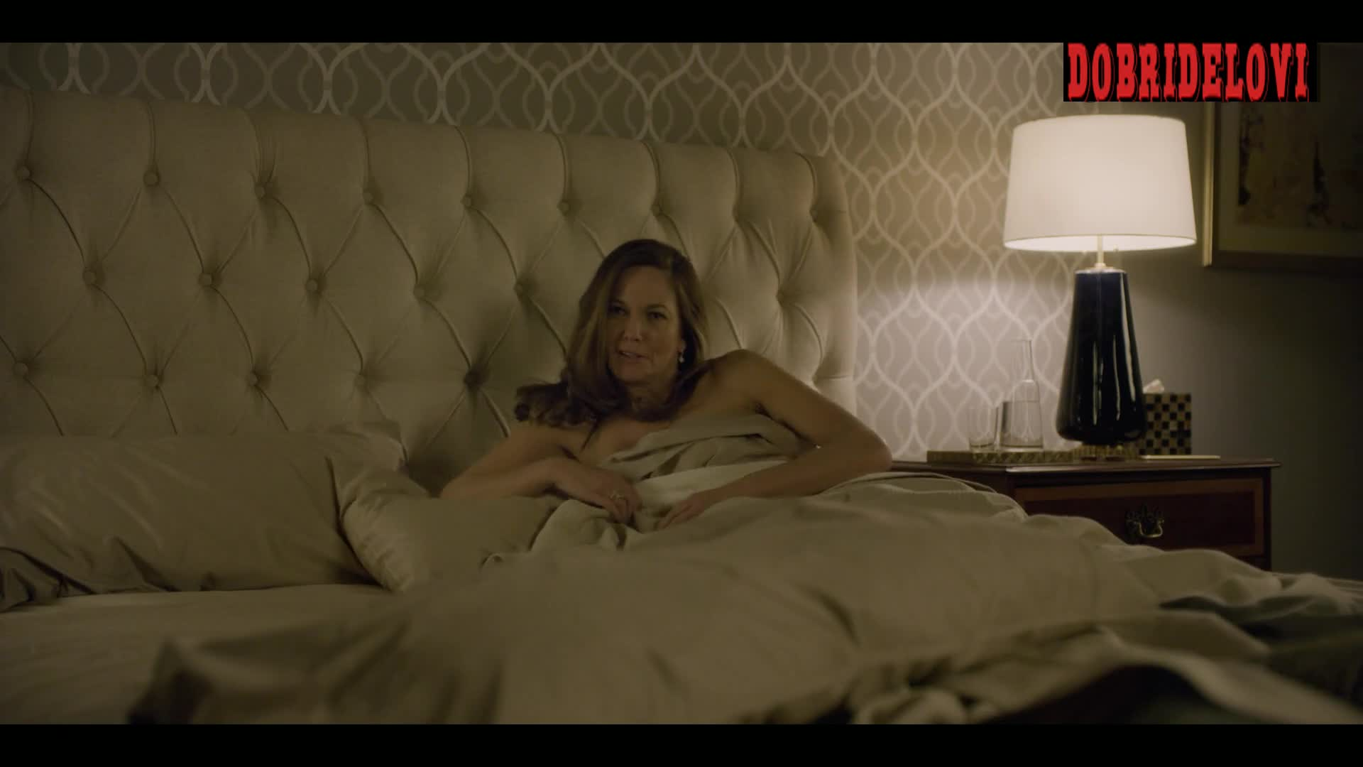 Diane Lane waiting in bed scene from House of Cards