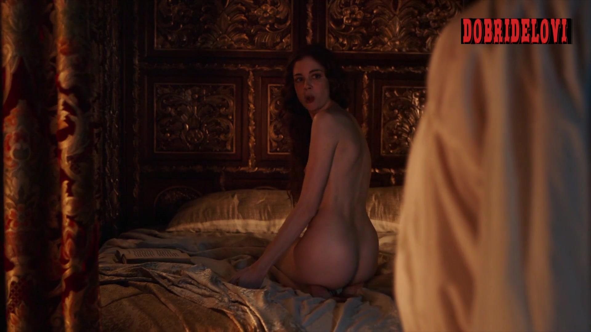 Charlotte Hope undressing scene from The Spanish Princess