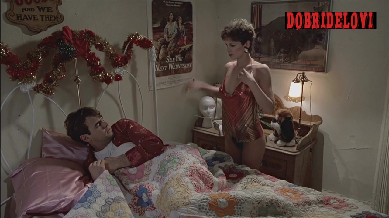 Jamie Lee Curtis undressing scene from Trading Places