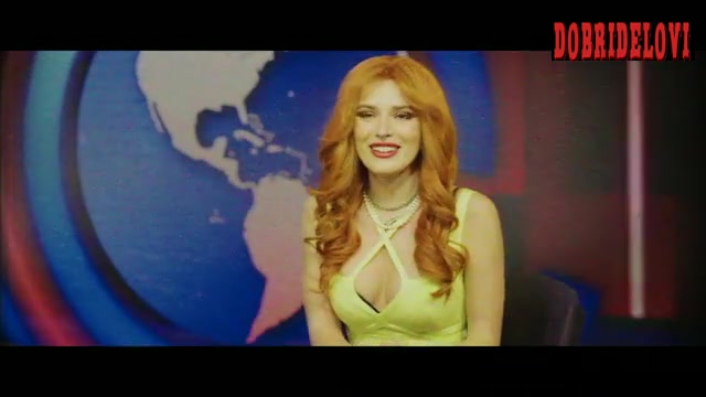 Bella Thorne cheerleading outfit scene from The Babysitter: Killer Queen