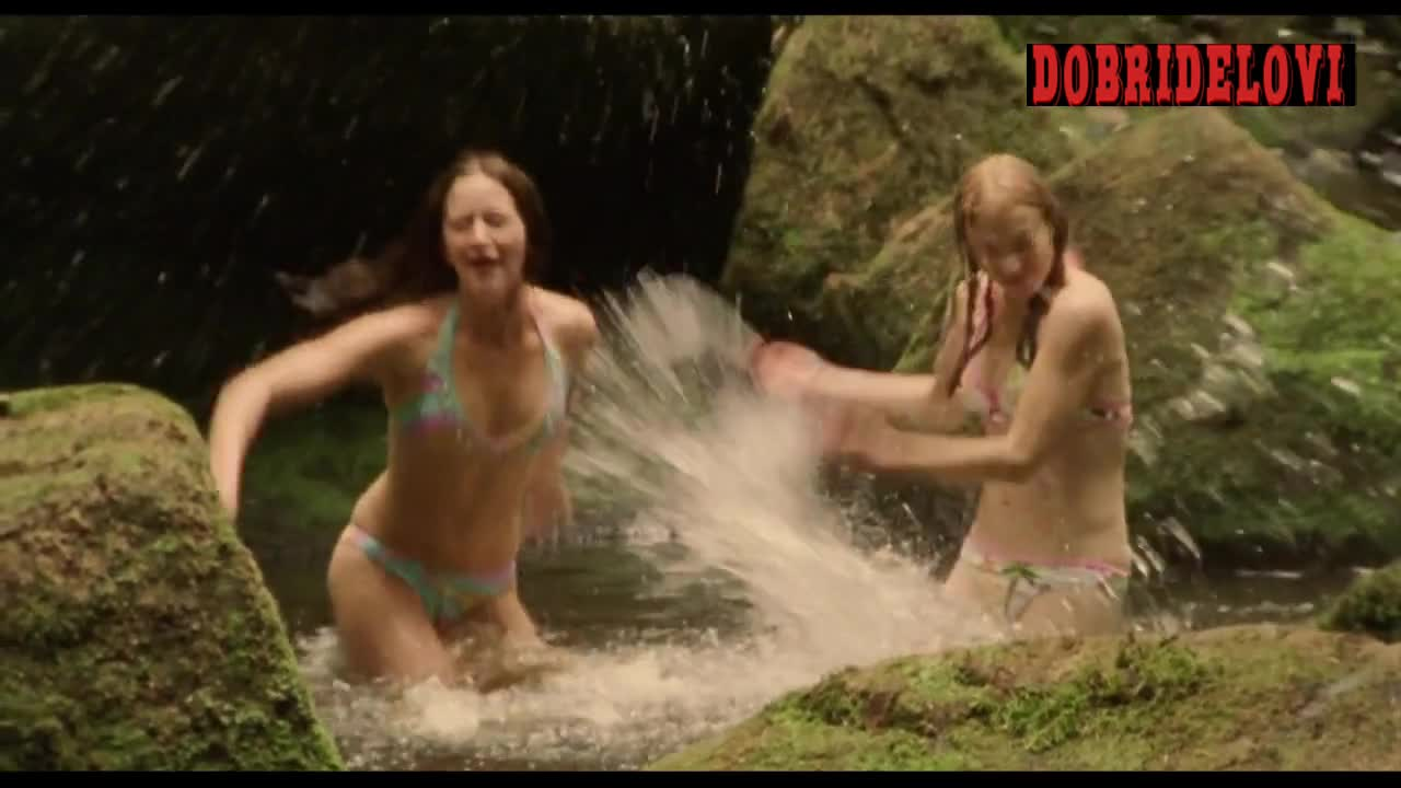 Emily Blunt and Natalie Press lesbian plays in the river scene from My Summer of Love