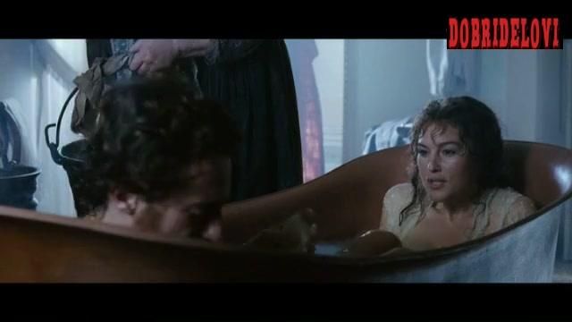 Monica Bellucci hot tub scene from Napoleon and Me