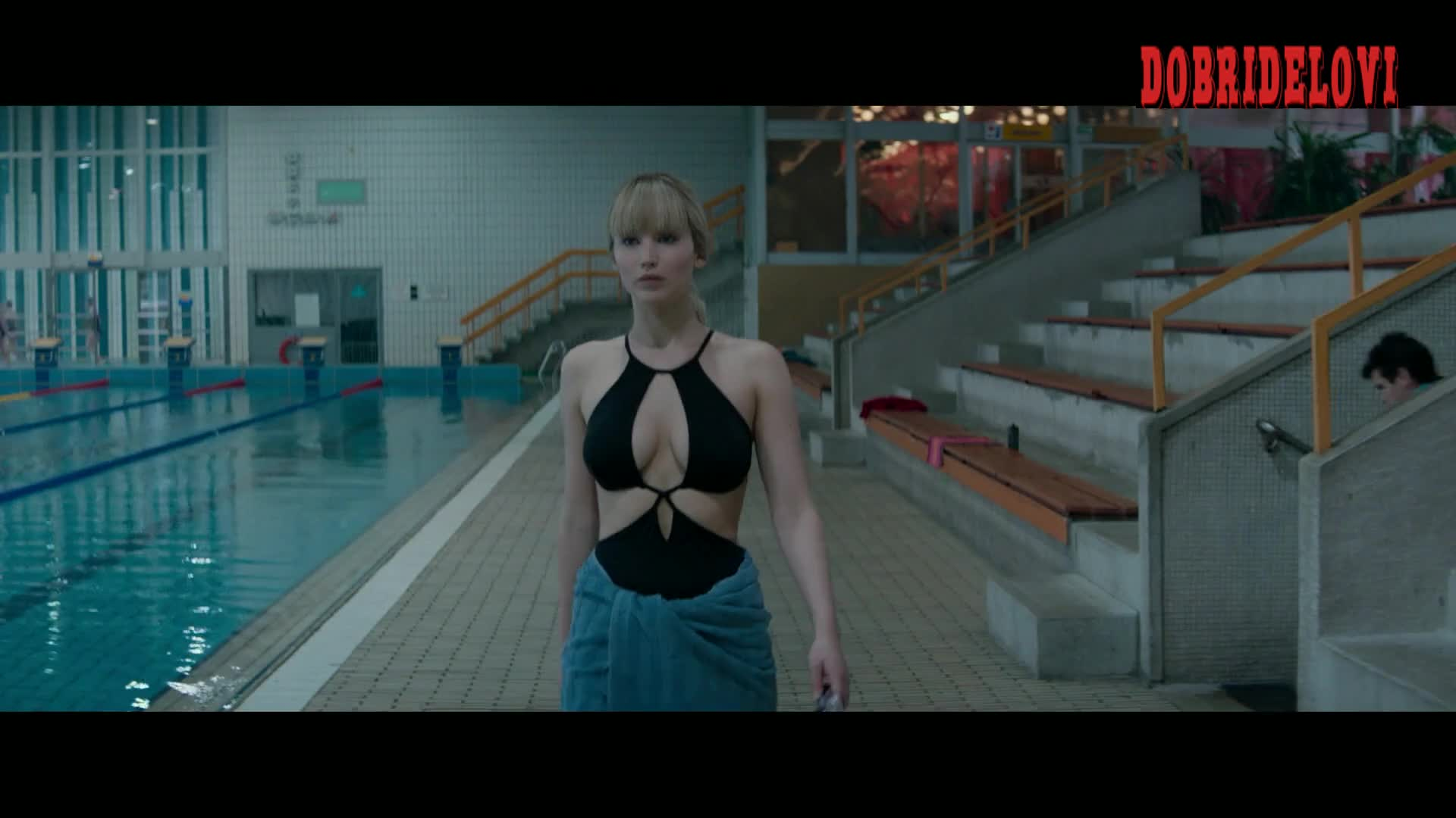 Jennifer Lopez sexy black Bathing suit scene for Red Sparrow