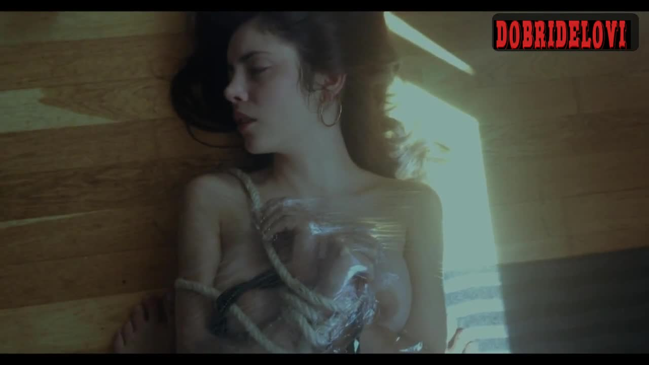 Aya Wolf tied in plastic scene from Mia