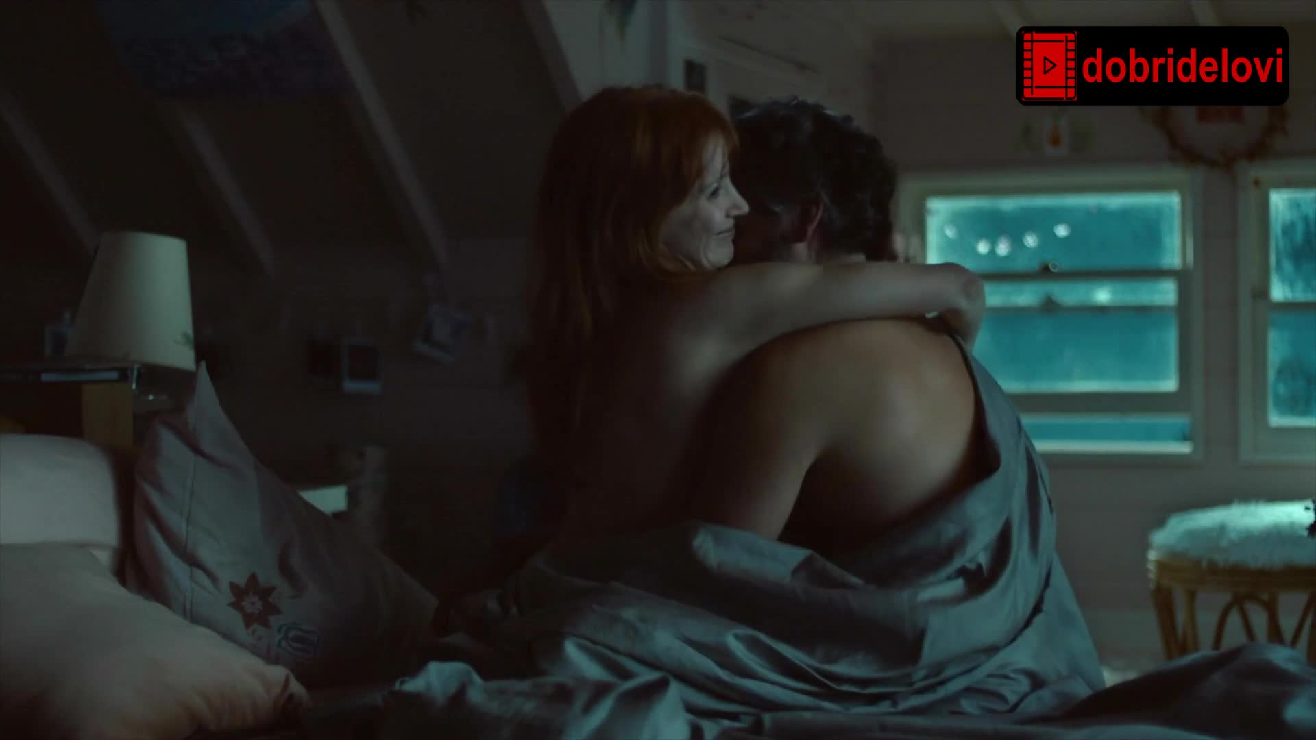 Jessica Chastain nude, bed scene from Scenes from a Marriage