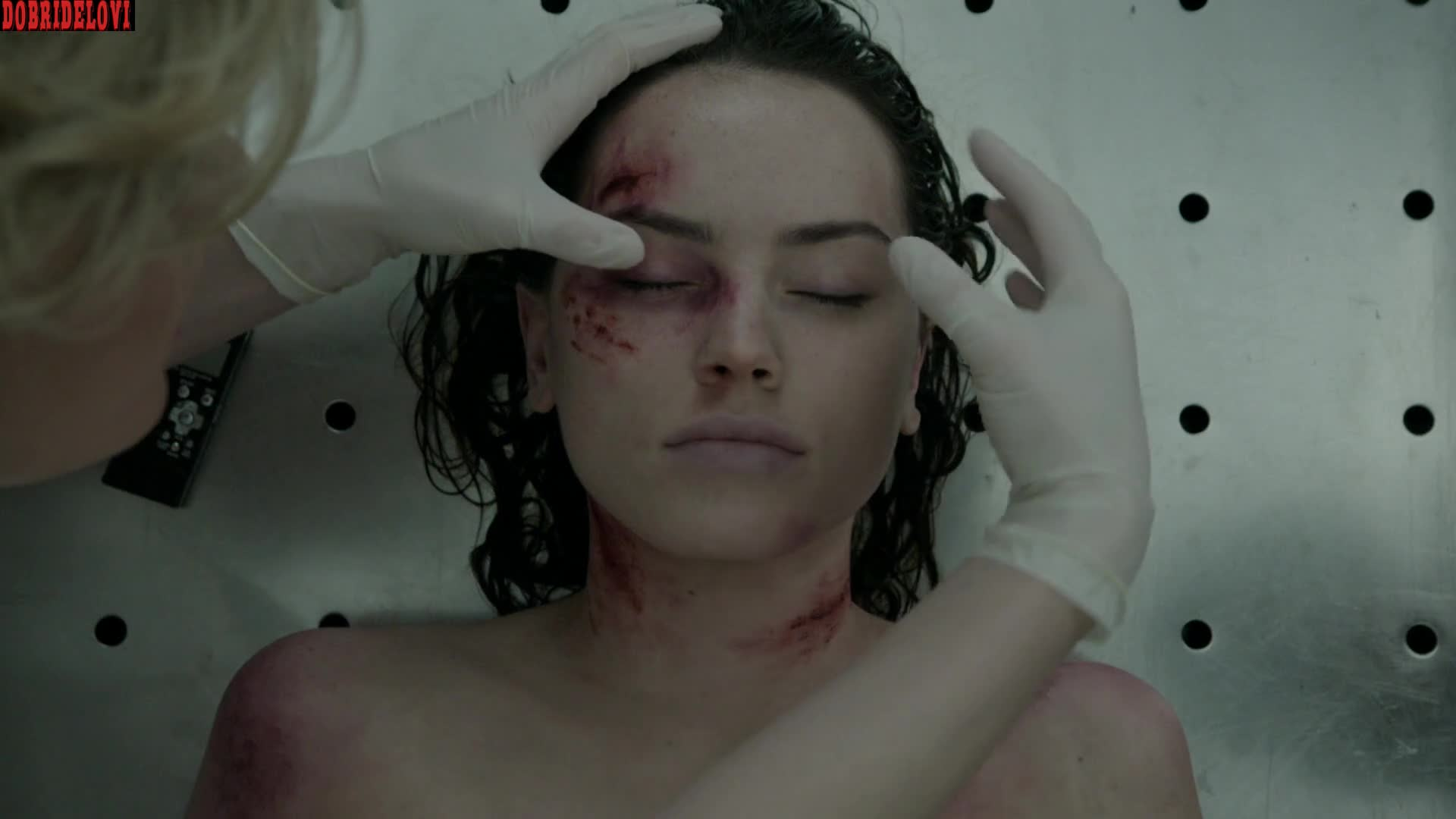 Daisy Ridley autopsy scene from Silent Witness