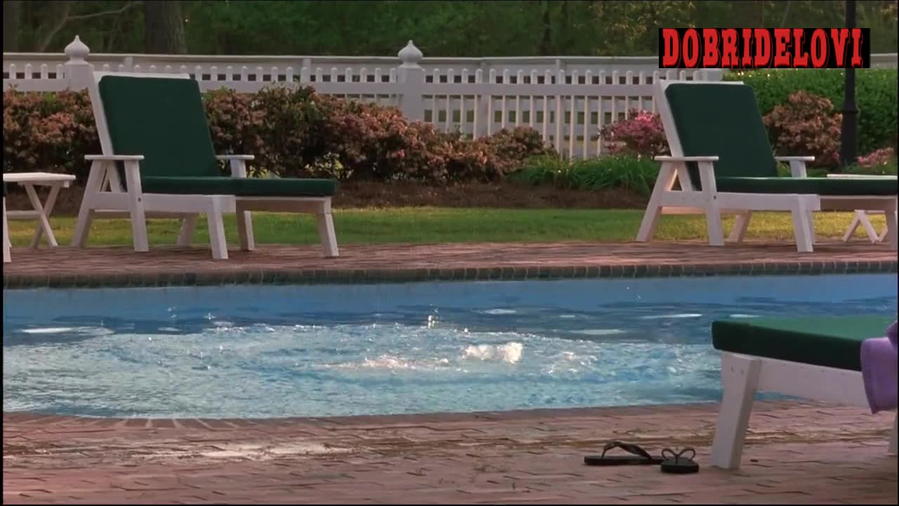Jessica Biel gets out of pool in The Summer Catch