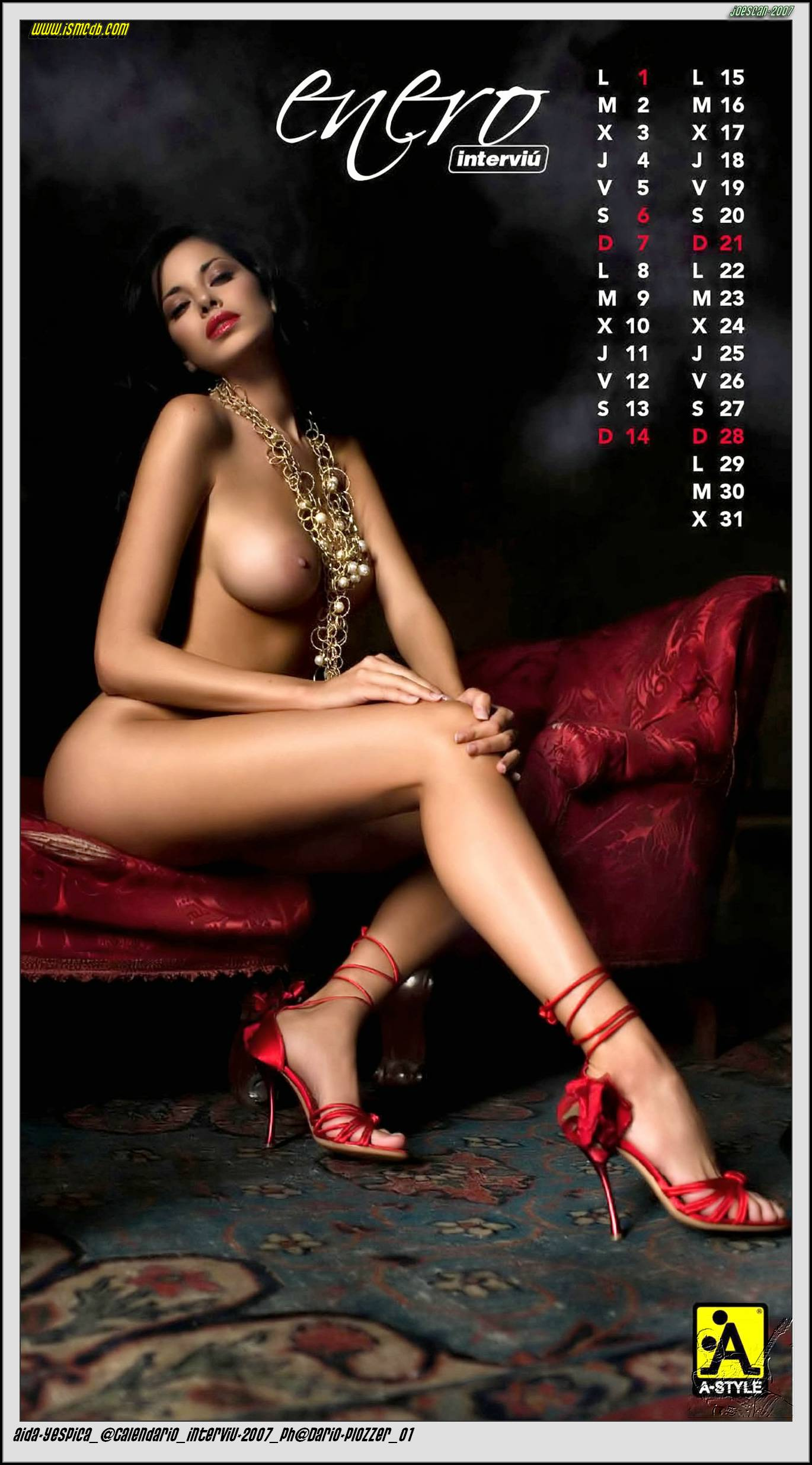 Aida Yespica Calendar 2008 January