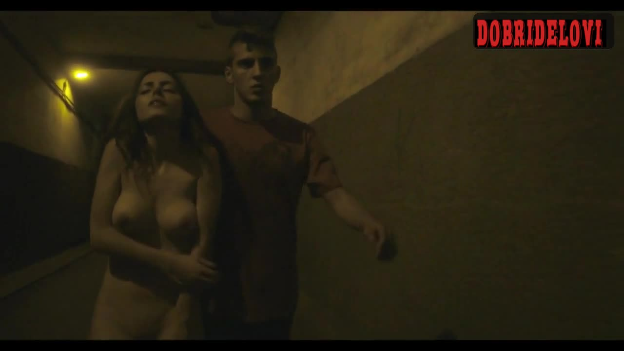 Aya Wolf walking nude in the streets scene from Mia