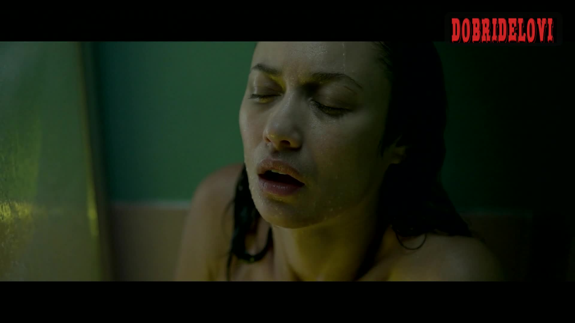 Olga Kurylenko shower scene from Sentinelle
