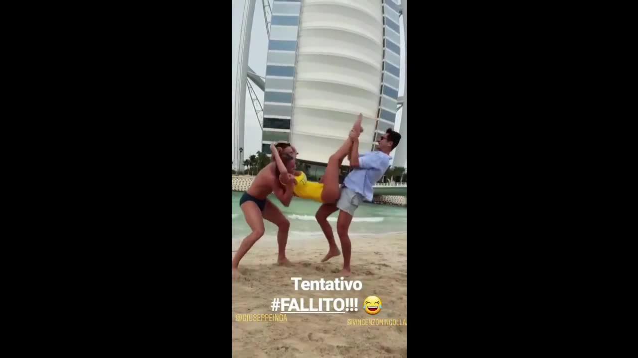 Diletta Leotta yellow bikini insta story