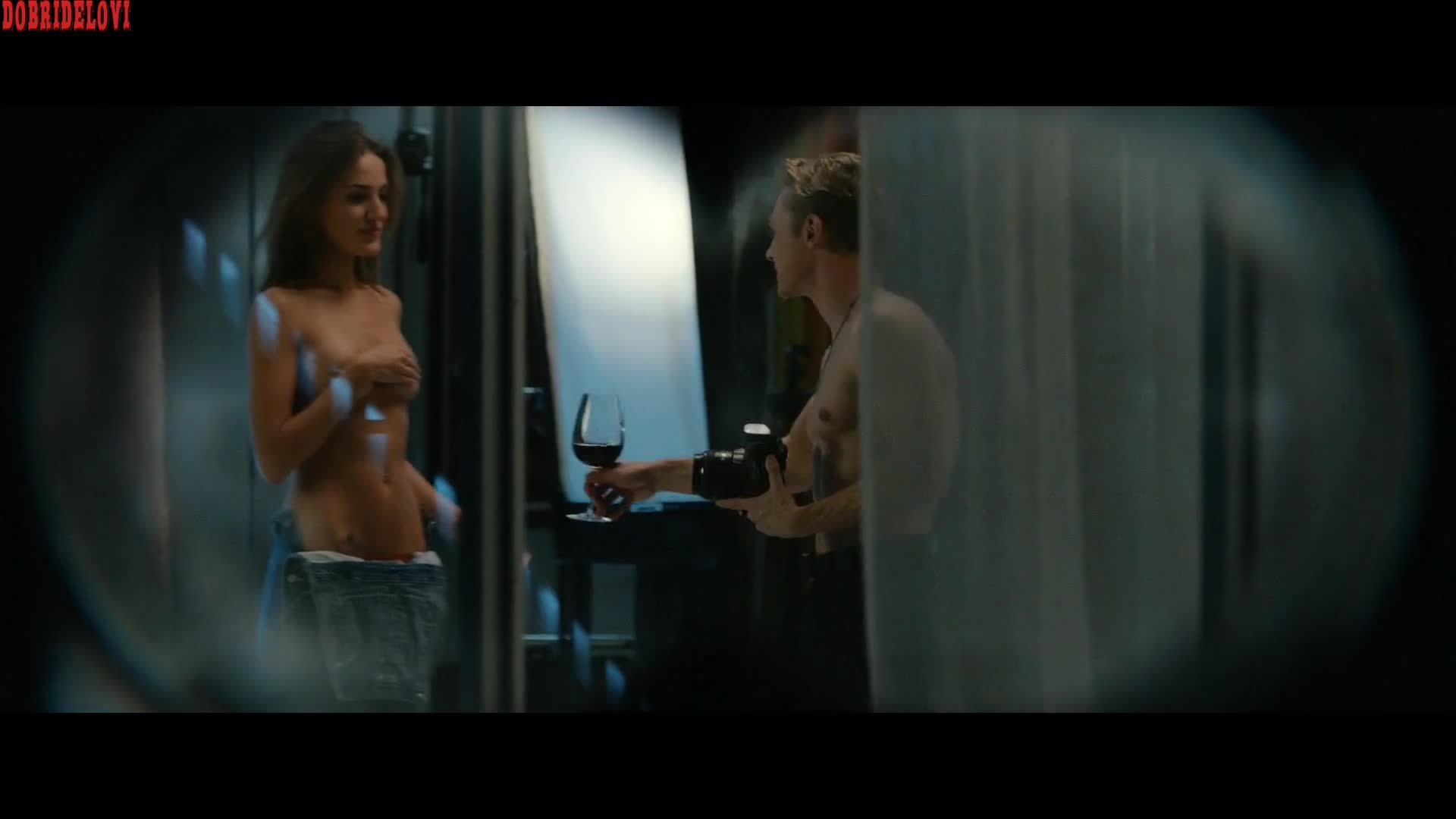 Cait Alexander being watched while having sex scene from The Voyeur