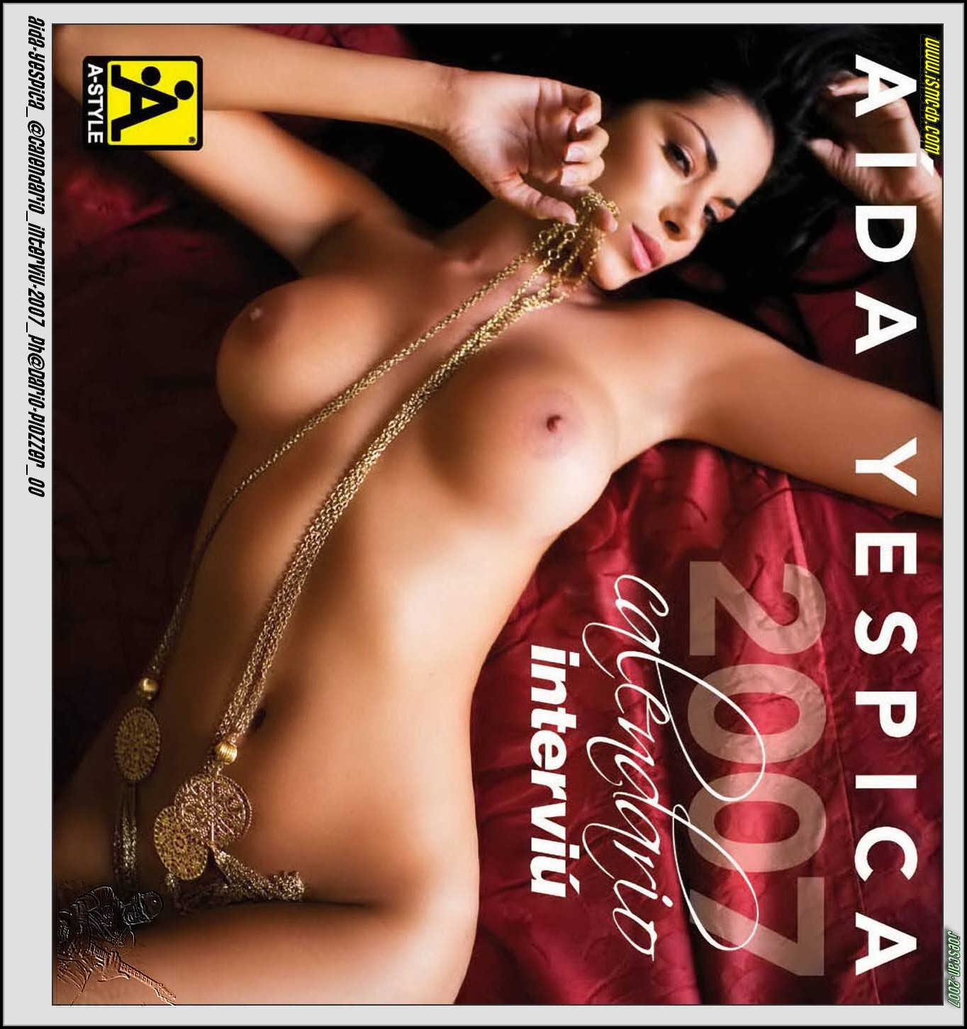 Aida Yespica Calendar 2008 photoshoot front cover