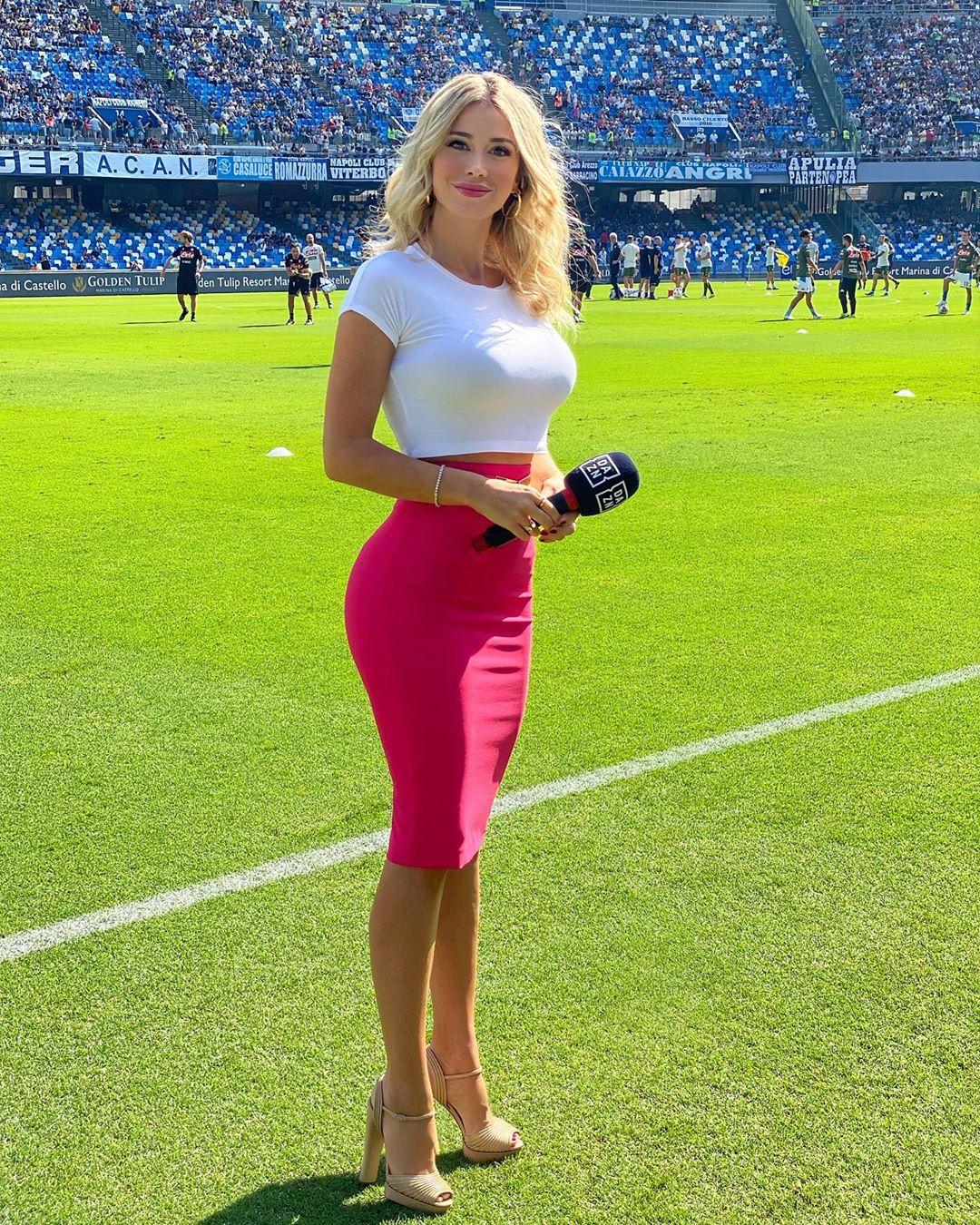 Diletta Leotta in the field