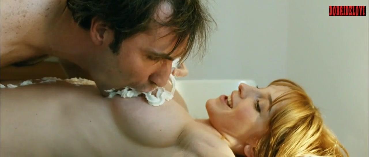 Vica Kerekes sprays her nude body in chantilly