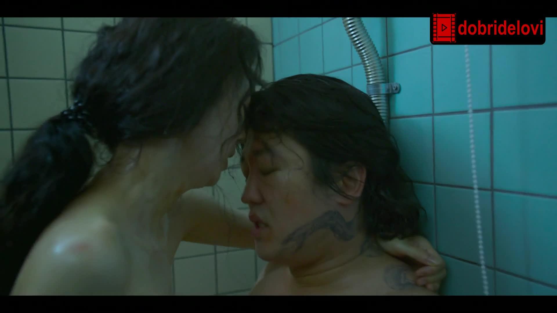 Lee Ji Ha sex in bathroom scene from Squid Game