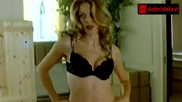 Claudia Gerini black lingerie scene from Desafinado