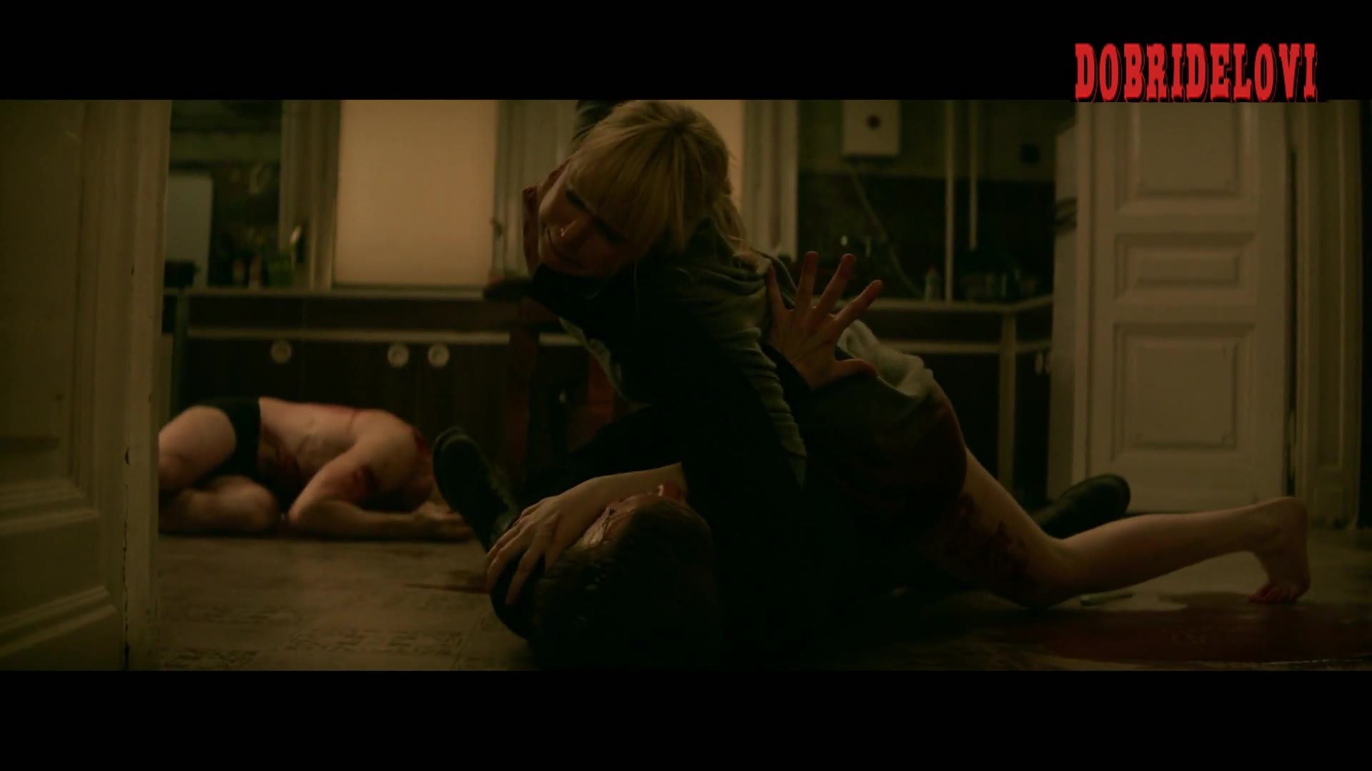 Jennifer Lawrence sexy fight scene in Red Sparrow