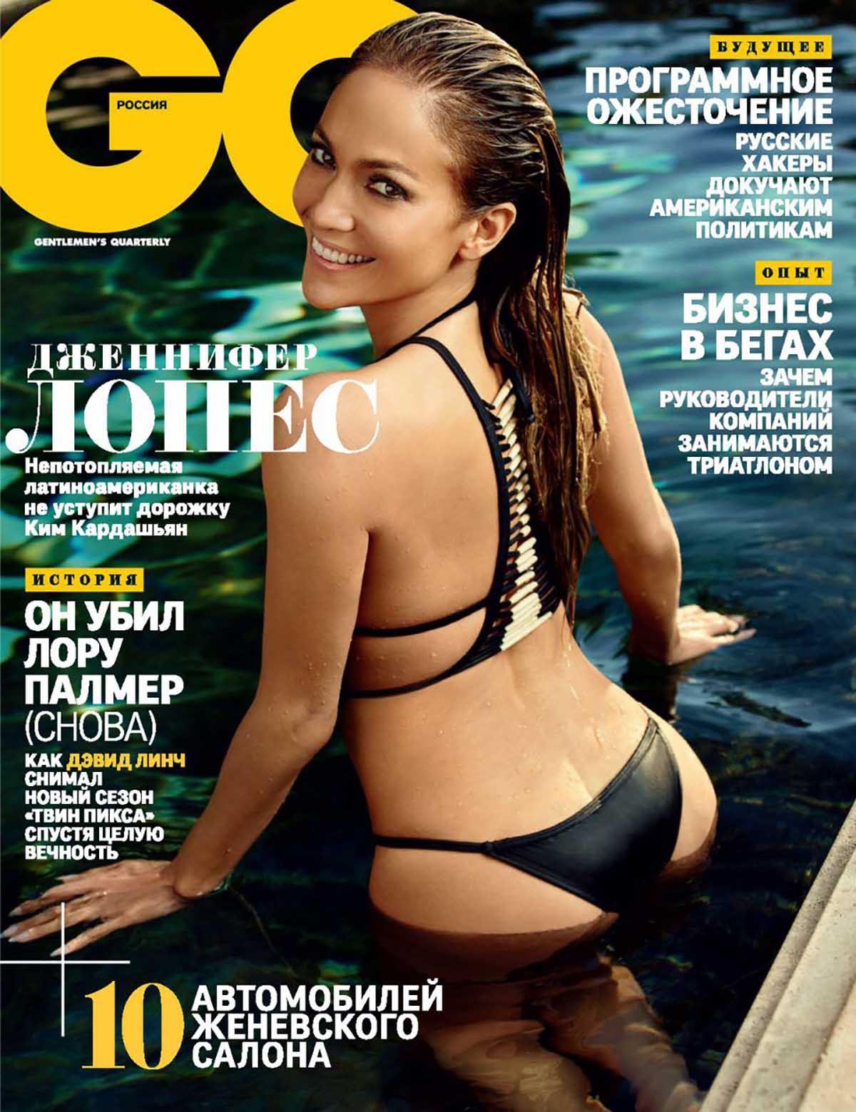 Jennifer Lopez Sexy Swimwear for GQ Russia 2017