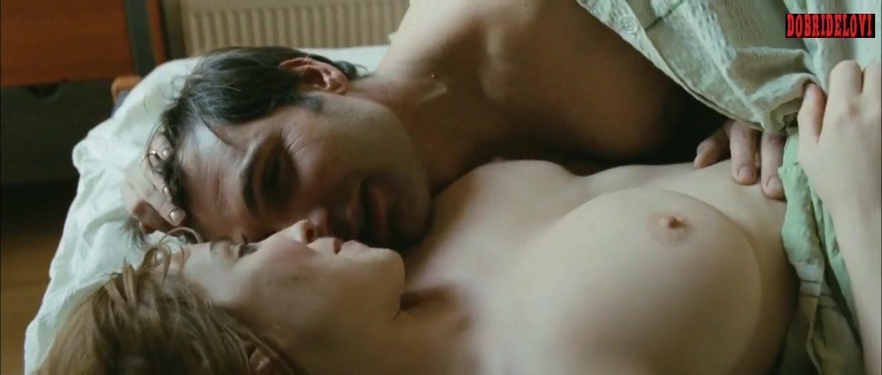 Vica Kerekes rolls nude in bed with Jiri Machacek scene from Shameless