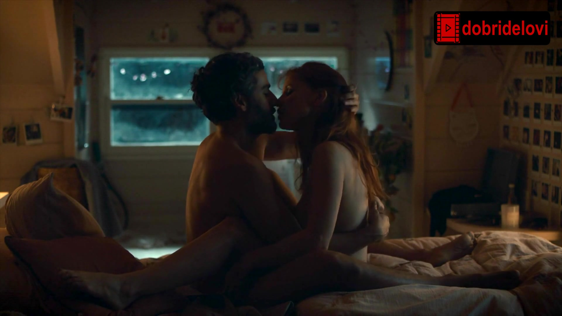 Jessica Chastain nude, bed, sex scene from Scenes from a Marriage