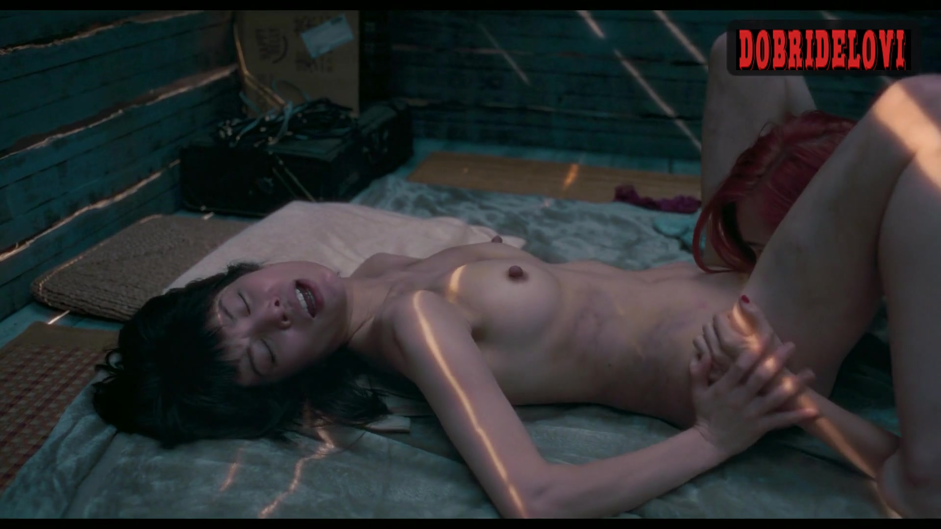 Honami Sato and Mizuhara Kiko lesbian scene from Ride or Die